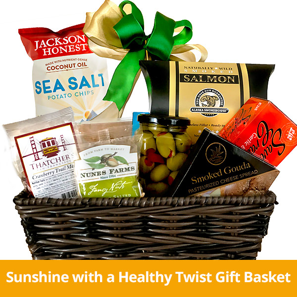 Sunshine with a Healthy Twist Gift Basket